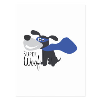 Super Woof Postcard