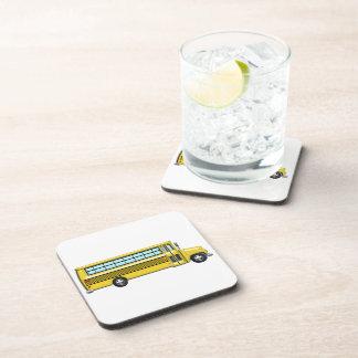 Super Yellow School Bus Coasters