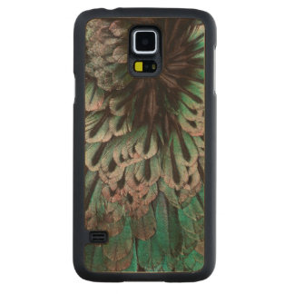 Superb Bird Of Paradise Feather Abstract Carved Maple Galaxy S5 Case