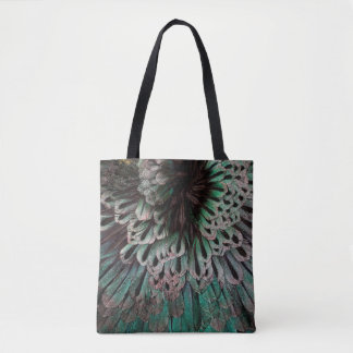 Superb Bird Of Paradise Feather Abstract Tote Bag