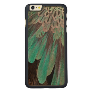 Superb Bird of Paradise feathers Carved Maple iPhone 6 Plus Case