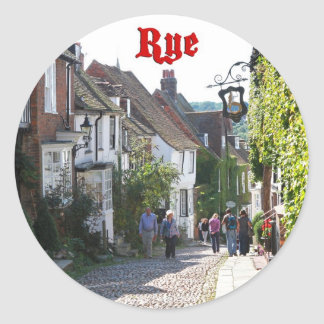 Superb! Rye England Classic Round Sticker