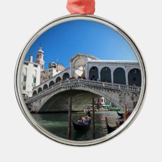 Superb! Ultimate Venice, Rialto, Grand Canal Silver-Colored Round Decoration