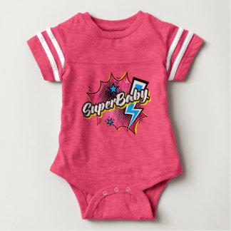 SuperBABY superhero comic bodysuit baby gift PINK