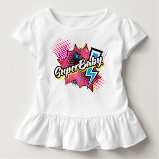 SuperBABY superhero comic toddler shirt gift PINK
