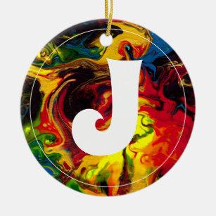 Superball Monogram Christmas Ornament
