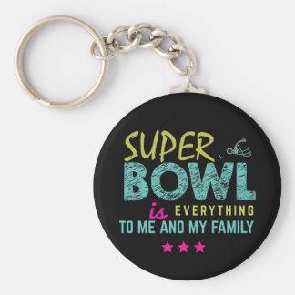 superbowl basic round button key ring