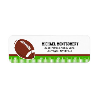 Superbowl Football Rugby Birthday Baby Shower Return Address Label