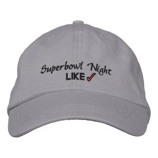 SUPERBOWL NIGHT EMBROIDERED BASEBALL CAP