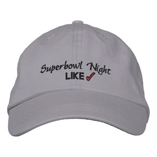 SUPERBOWL NIGHT EMBROIDERED HAT