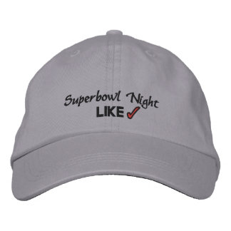 SUPERBOWL NIGHT EMBROIDERED BASEBALL CAPS