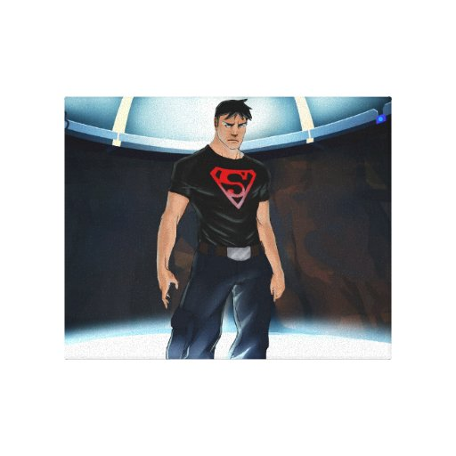 Superboy Young Justice Titan Tower Training Room Stretched Canvas Prints
