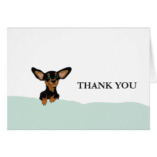 Supercute dachshund puppy thank you card