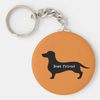 Supercute dachshund with floppy ears and hearts key ring