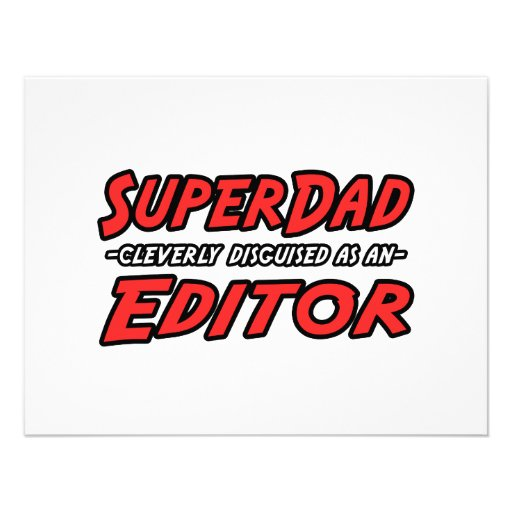 SuperDad...Editor Custom Invitation
