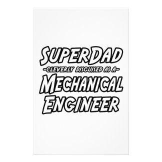 SuperDad...Mechanical Engineer Stationery
