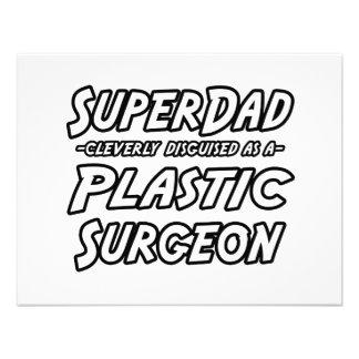 SuperDad Plastic Surgeon Personalized Announcement