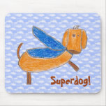 Superdog! (Maggie) mouse pad