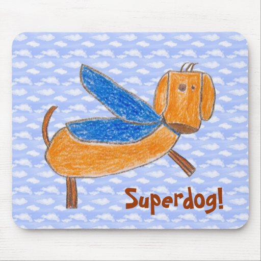 Superdog! (Maggie) mouse pad