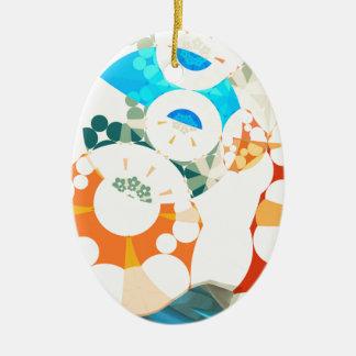 Superflat Geometries (ii) Ceramic Oval Decoration