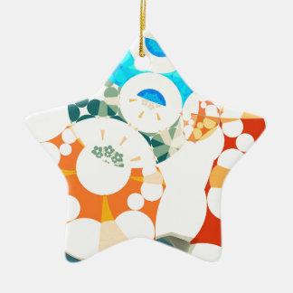 Superflat Geometries (ii) Ceramic Star Decoration
