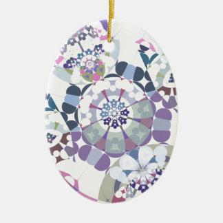Superflat Geometries (iv) Ceramic Oval Decoration