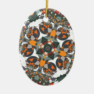 Superflat Geometries (v) Ceramic Oval Decoration