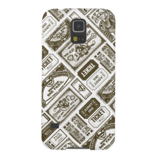 Supergirl Admit One Pattern Brown Case For Galaxy S5