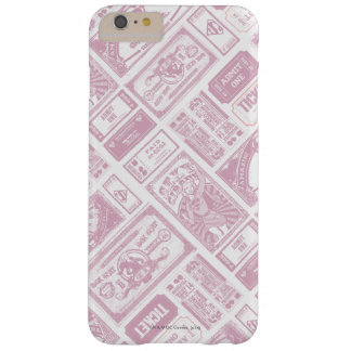 Supergirl Admit One Pattern Pink Barely There iPhone 6 Plus Case