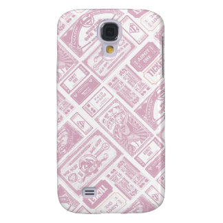 Supergirl Admit One Pattern Pink Galaxy S4 Case