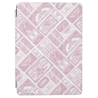Supergirl Admit One Pattern Pink iPad Air Cover