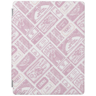 Supergirl Admit One Pattern Pink iPad Cover
