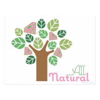 Supergirl All Natural Tree Postcard