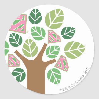 Supergirl All Natural Tree Sticker