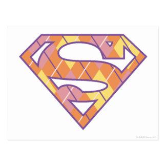 Supergirl Argyle Logo Postcard