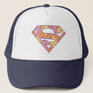Supergirl Argyle Logo Trucker Hat
