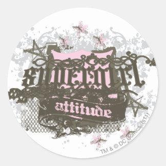 Supergirl Attitude Classic Round Sticker