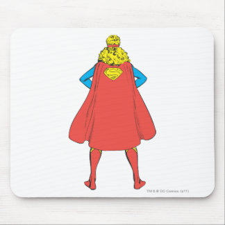 Supergirl Back View Mouse Mat