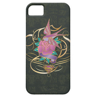 Supergirl Bird and Flower Case For The iPhone 5