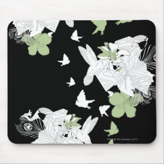 Supergirl Birds and Feathers Mouse Mat