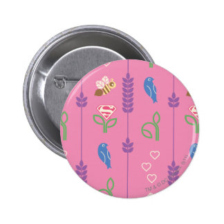 Supergirl Birds, Bees, Trees 6 Cm Round Badge