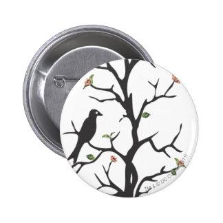 Supergirl Birds in the Tree 6 Cm Round Badge