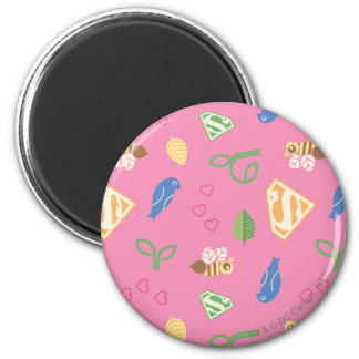Supergirl Birds & the Bees Pink Magnet