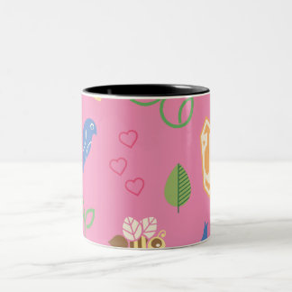 Supergirl Birds & the Bees Pink Two-Tone Coffee Mug