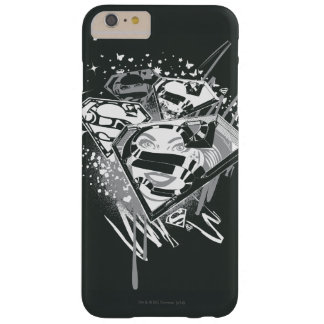 Supergirl Black and White Barely There iPhone 6 Plus Case