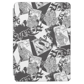 Supergirl Black and White Collage 2 iPad Air Cover