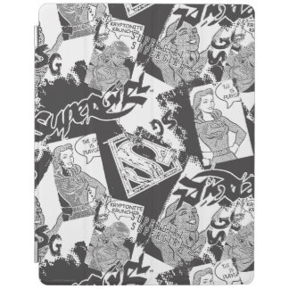 Supergirl Black and White Collage 2 iPad Cover
