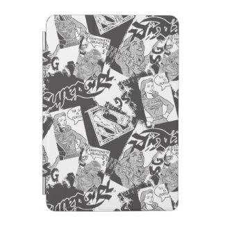 Supergirl Black and White Collage 2 iPad Mini Cover