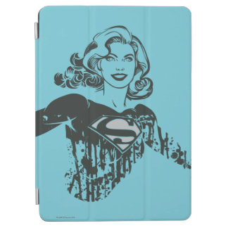 Supergirl Black and White Drawing 1 iPad Air Cover