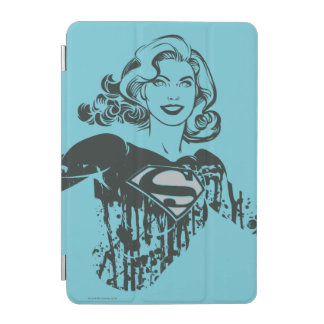 Supergirl Black and White Drawing 1 iPad Mini Cover